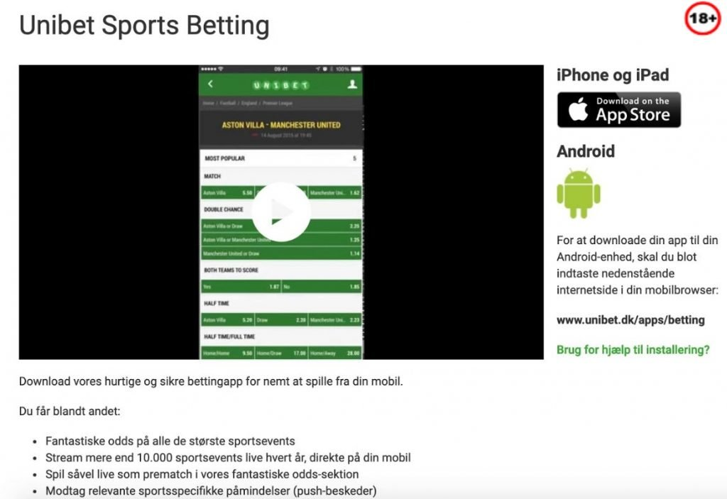 Sports Betting App Unibet