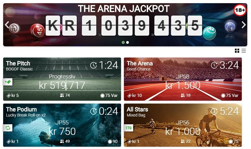 Unibet The Arena Jackpot